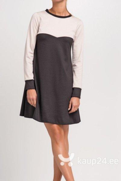 Naiste kleit Makadamia, must/roosa цена и информация | Kleidid | kaup24.ee