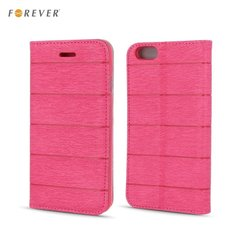 Kaitseümbris Forever Smart Magnetic Fix Cloth Line sobib Huawei P8 Lite, roosa