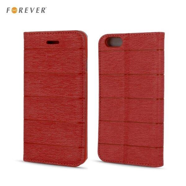 Kaitseümbris Forever Smart Magnetic Fix Cloth Line sobib Samsung Galaxy Grand Prime (G530/G531),punane hind ja info | Mobiili ümbrised, kaaned | kaup24.ee