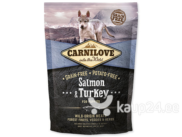 Kuivtoit koertele Carni Love Salmon & Turkey Puppy 1,5kg