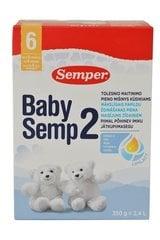 Jätkupiimasegu Semper Baby Semp 2, 6-12 kuud, 350 gr.