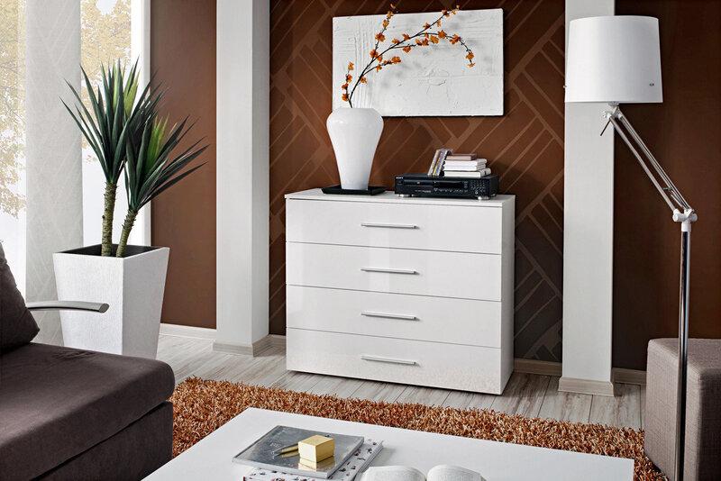 Kummut Go III, valge hind ja info | Kummutid, sahtlid | kaup24.ee
