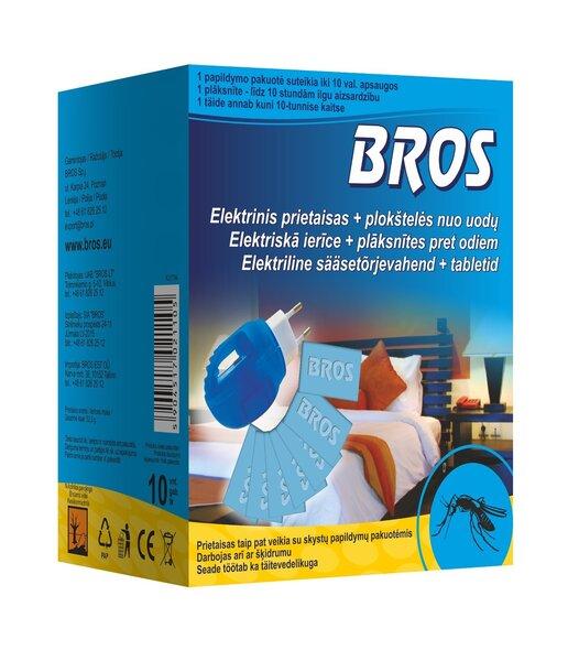 Elektriline sääsetõrjevahend + 10 tabletti BROS цена и информация | Sääsetõrjevahendid | kaup24.ee