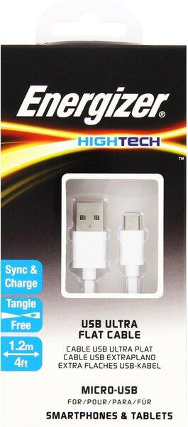 Kaabel HightTech MicroUSB-USB ENERGIZER, 1.2 m цена и информация | Kaablid | kaup24.ee