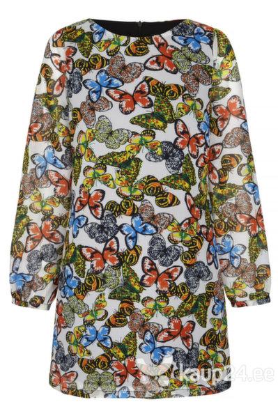 Naiste kleit Yumi, kollane/valge цена и информация | Kleidid | kaup24.ee