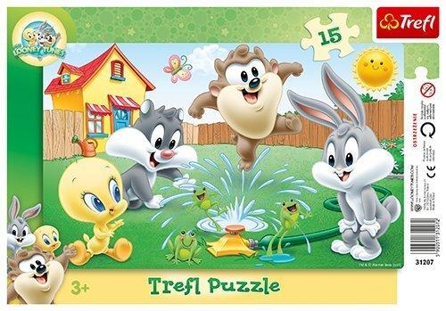 Pusle Lõbus Aed Trefl, 15 detaili, 1 tk цена и информация | Puzzle, mõistatused | kaup24.ee