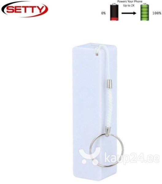 Akupank Setty Mini Cube Power Bank 2000mAh, valge