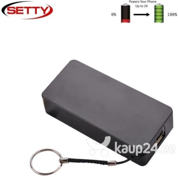 Akupank Setty Mini Cube Power Bank 4000mAh, must hind ja info | Akupank | kaup24.ee