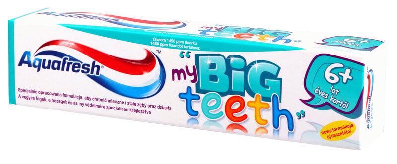 Laste hambapasta Aquafresh My Big Teeth 6+m. 50 ml hind ja info | Suuhügieen | kaup24.ee