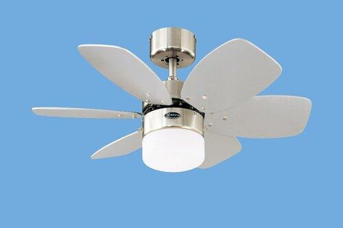 Valgusti ventilaator Flora Royale must