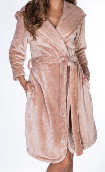 Naiste hommikumantel Rose & Petal, helepruun цена и информация | Naiste öösärgid, pidžaamad ja hommikumantlid | kaup24.ee