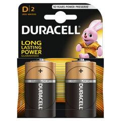 Patareid Duracell D LR20 2 tk hind ja info | Patareid Duracell D LR20 2 tk | kaup24.ee