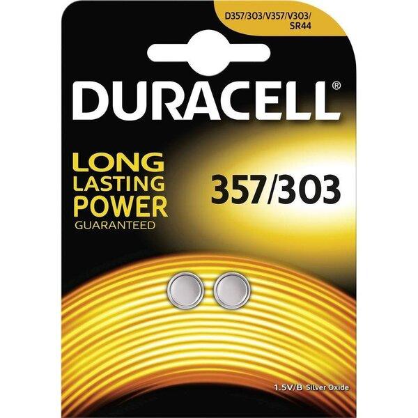 Patareid Duracell D357, 2 tk цена и информация | Patareid | kaup24.ee