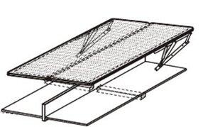 Подъёмная решётка для кровати с коробкой для хранения, 90x200 см