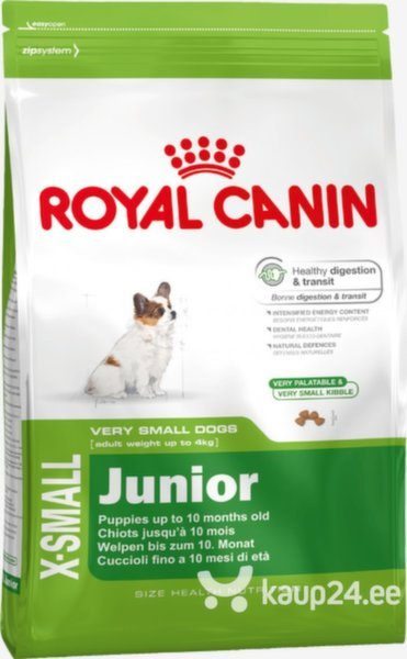Kuivtoit koertele Royal Canin X-Small Junior 1,5 kg цена и информация | Kuivtoit koertele | kaup24.ee