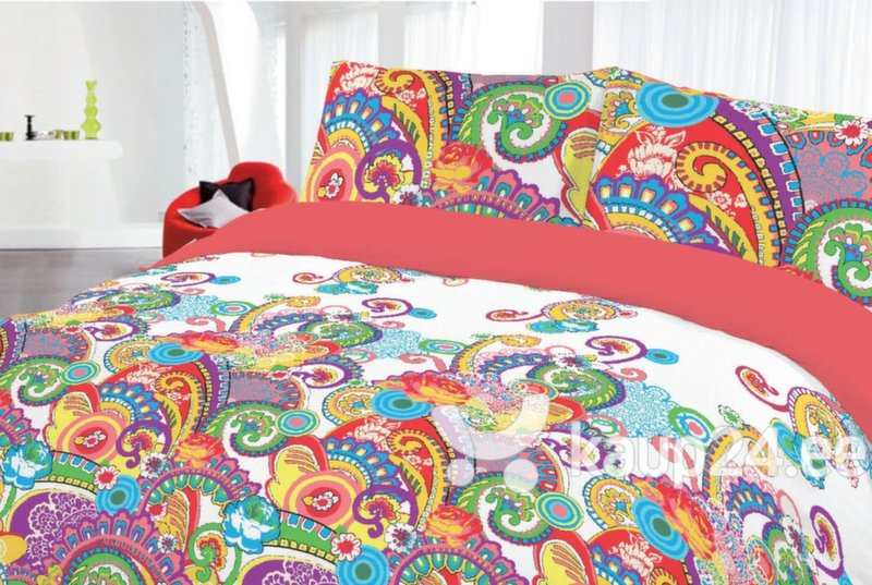 3D voodipesukomplekt abstraktsed kirjud kujundid цена и информация | Voodipesukomplektid | kaup24.ee