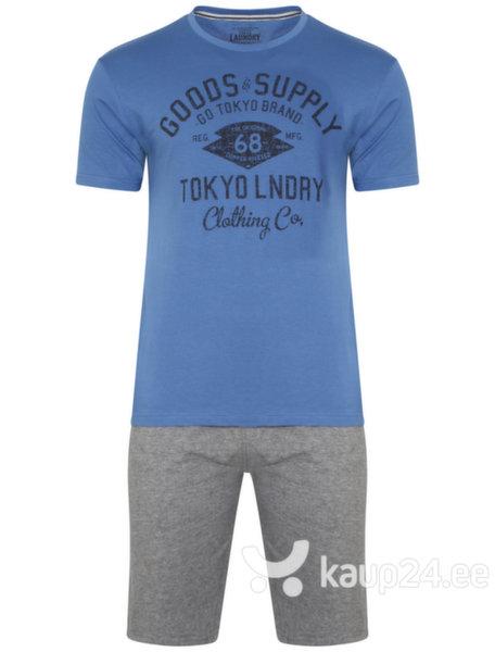 Meeste vabaajakomplekt Tokyo Laundry, sinine/hall цена и информация | Meeste hommikumantlid | kaup24.ee