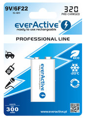 Patarei everActive Professional Ready to Use 9V 320mAh aku, 1 tk