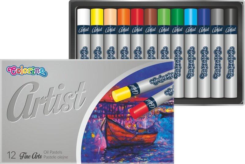 Õlipastellid Patio COLORINO, 12 värvi цена и информация | Värvimis- ja kirjutusvahendid | kaup24.ee