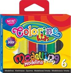 Масса для моделирования COLORINO, 6 цветов