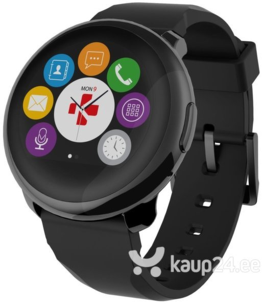Nutikell MyKronoz ZeRound, must цена и информация | Nutikellad (Smart Watch) | kaup24.ee