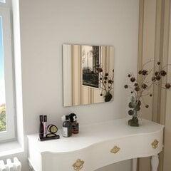 vidaXL seinapeegel, 50 x 50 cm, kandiline, klaasist hind ja info | Peeglid | kaup24.ee