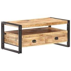 vidaXL kohvilaud, 100 x 55 x 45 cm, töötlemata mangopuit hind ja info | Diivanilauad | kaup24.ee