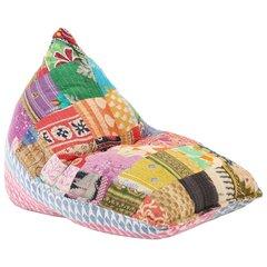 vidaXL kott-tool, värviline kangas, lapitehnika hind ja info | Kott-toolid, tumbad, järid | kaup24.ee