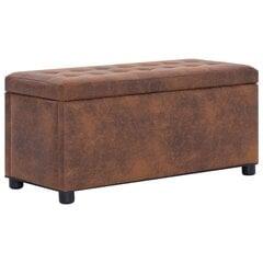 vidaXL hoiutumba 87,5 cm, pruun, kunstseemisnahk hind ja info | Kott-toolid, tumbad, järid | kaup24.ee