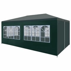 vidaXL peotelk 3 x 6 m, roheline цена и информация | Беседки, навесы, тенты | kaup24.ee