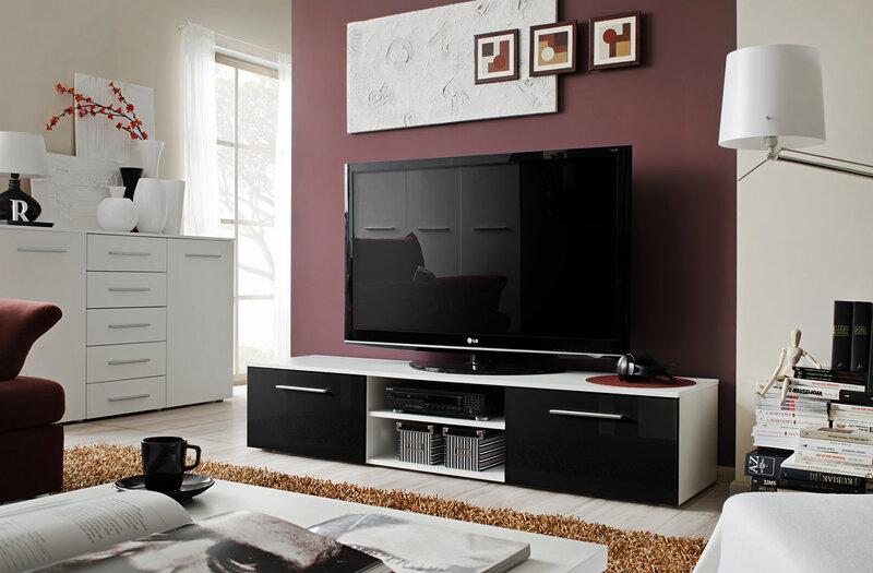 TV alus RTV Bono II, valge/must hind ja info | TV alused | kaup24.ee