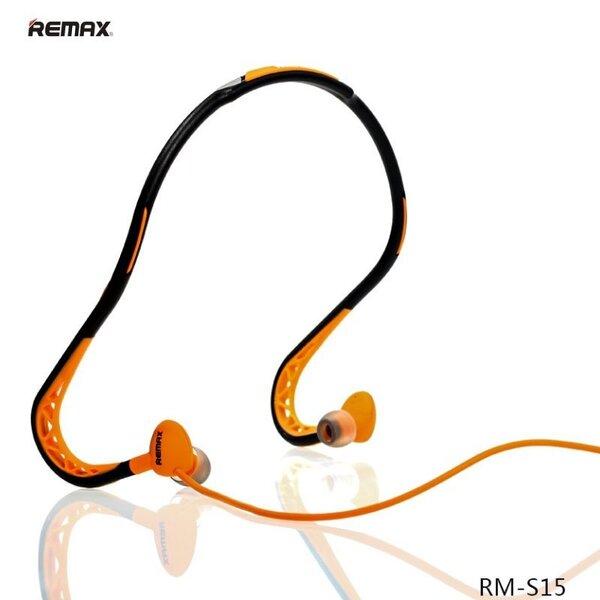 Kõrvaklapid mikrofoniga Remax RM-S15 Active Sport, oranž