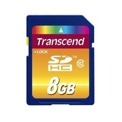 Transcend 8GB SDHC, klass 10