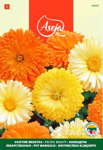 Saialill /Pot Marigold/ Pacific beauty, ASEJA, 2,5g, 40850( 5 ) цена и информация | Lilleseemned | kaup24.ee