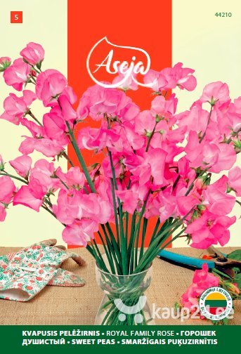 Lillhernes /Sweet Peas/ Royal family rose, ASEJA, 2,5g, 44210( 5 ) цена и информация | Lilleseemned | kaup24.ee