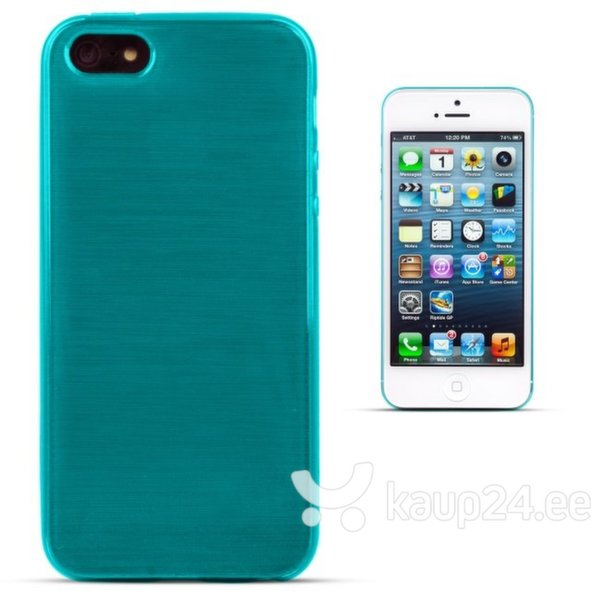Kaitseümbris Forcell Jelly Brush Pearl sobib Apple iPhone 5/5S/SE, sinine цена и информация | Mobiili ümbrised, kaaned | kaup24.ee