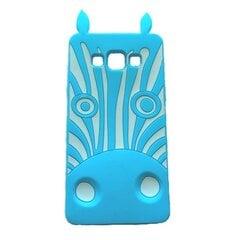 Kaitseümbris Zooky sobib Samsung Galaxy S5/S5 Neo (G900/G903), 3D Zebra, sinine