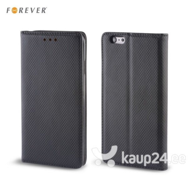 Kaitseümbris Forever Smart Magnetic Fix Book sobib Samsung Galaxy J5 (J500), must цена и информация | Mobiili ümbrised, kaaned | kaup24.ee