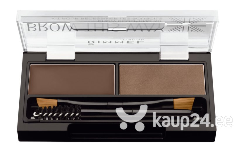 Kulmupalett Rimmel Brow This Way 2.4 g цена и информация | Silmadele | kaup24.ee