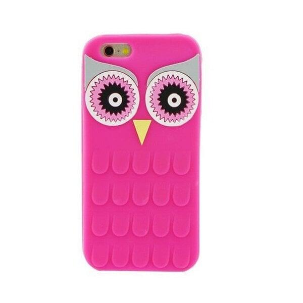 Kaitseümbris Zooky sobib LG K10 K430, 3D öökull, roosa