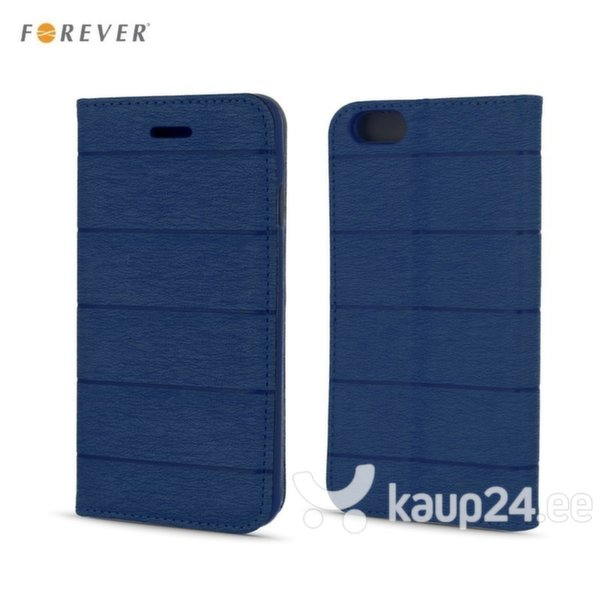 Kaitseümbris Forever Smart Magnetic Fix Cloth Line sobib Apple iPhone 6/6S, sinine цена и информация | Mobiili ümbrised, kaaned | kaup24.ee