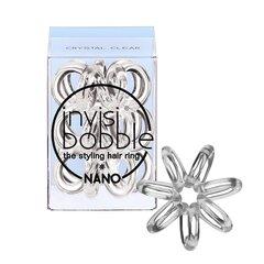 Juuksekumm Invisibobble Nano, 3 tk, läbipaistev hind ja info | Tarvikud juustele | kaup24.ee