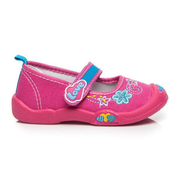 Tüdrukute baleriinad, roosa цена и информация | Laste jalanõud | kaup24.ee