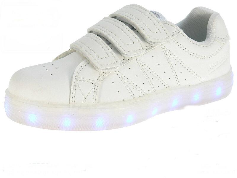 Laste valgustatud spordijalatsid Beppi Moonlight, valge цена и информация | Laste jalanõud | kaup24.ee