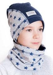 Laste müts ja sall Colibri, sinine/hall I