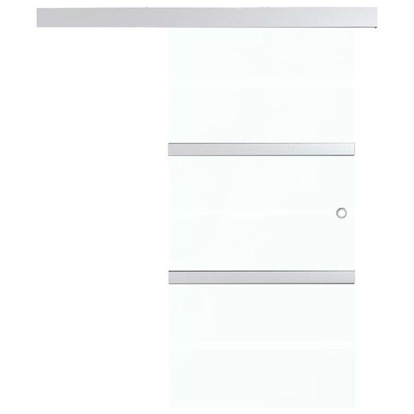 vidaXL liuguks, ESG-klaas ja alumiinium, 76 x 205 cm, hõbedane tagasiside