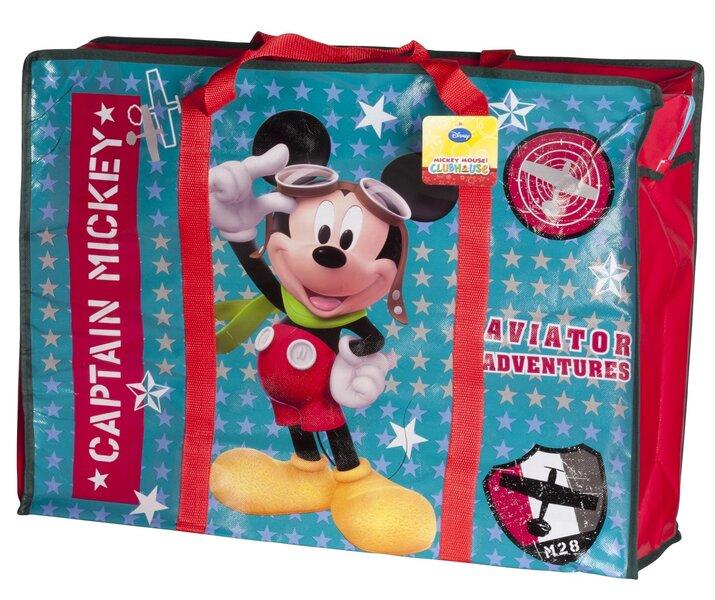 Lasteasjade kott Mickey Mouse, 60x18x46 cm цена и информация | Koolikotid, pinalid, sussikotid | kaup24.ee
