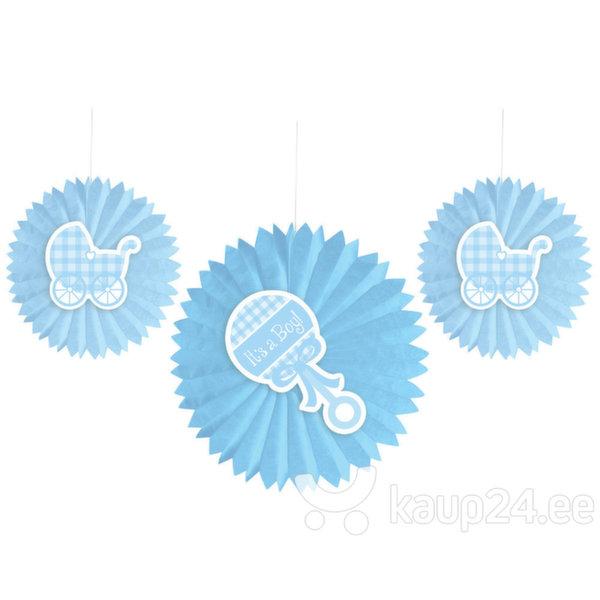 Riputatavad kaunistused beebipeole 3 tk, sinine цена и информация | Peolaua kaunistused, dekoratsioonid | kaup24.ee