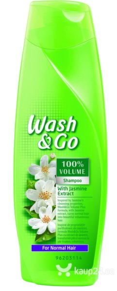 Šampoon Wash & Go jasmiiniekstraktiga, 400 ml цена и информация | Šampoonid | kaup24.ee