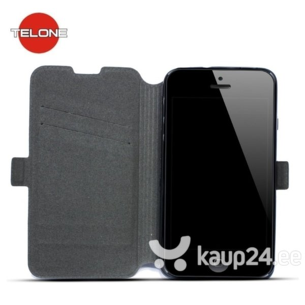 Kaitseümbris Telone Super Slim Shine Book Case sobib LG K4 K130, must цена и информация | Mobiili ümbrised, kaaned | kaup24.ee
